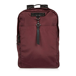 Red hook strap backpack