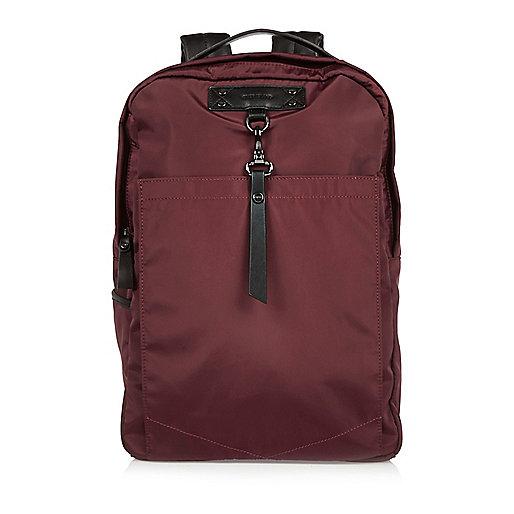 Red hook strap backpack
