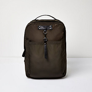Dark green hook strap backpack