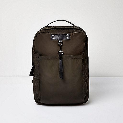 Dark green hook strap backpack