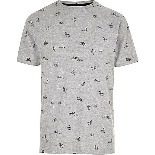 Grey pin-up girl T-shirt