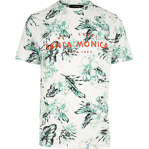 White Santa Monica T-shirt