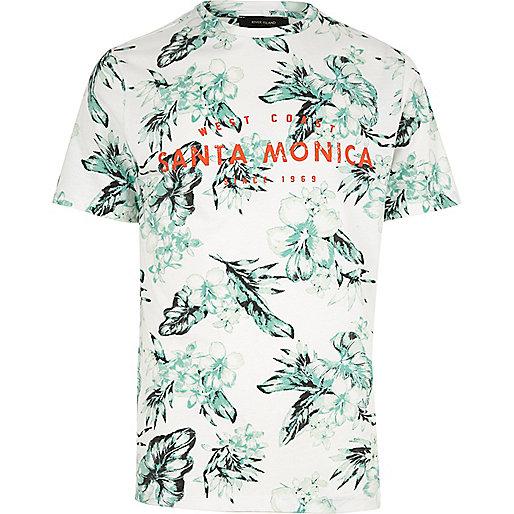 T-shirt Santa Monica blanc