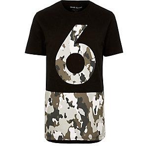Black camo hem T-shirt