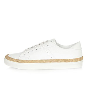 White jute lined sneakers
