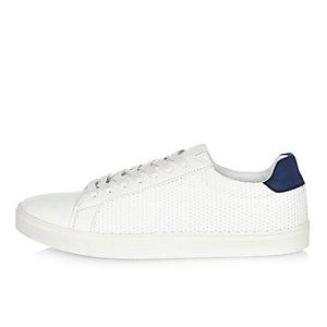 White mesh sneakers