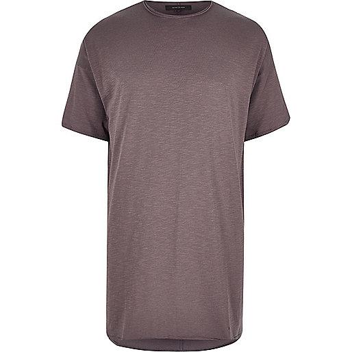 Mauve extreme longline T-shirt
