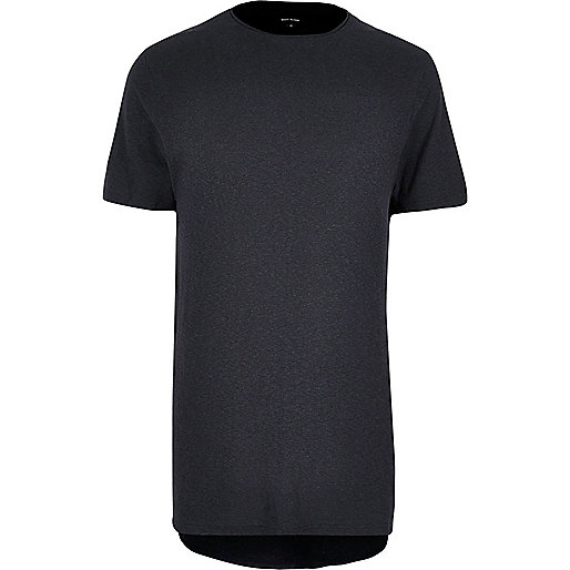 Black washed longline T-shirt
