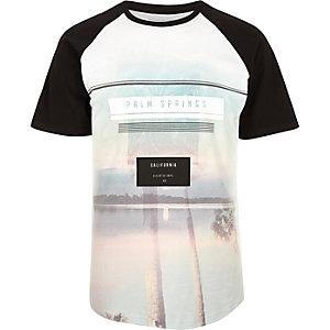 Black Palm Springs print raglan T-shirt