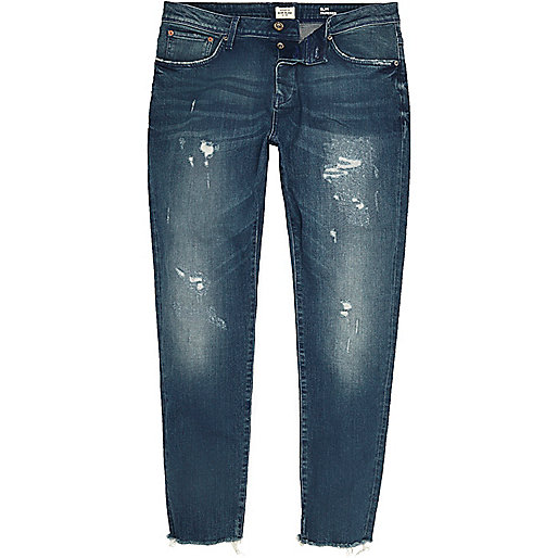 Mid blue wash Jimmy slim tapered jeans