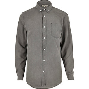 Grey denim shirt