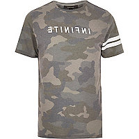Khaki Infinite camo T-shirt