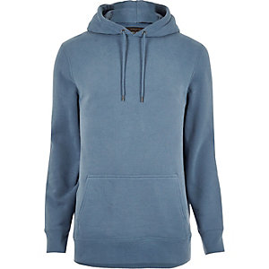 Light blue cotton hoodie