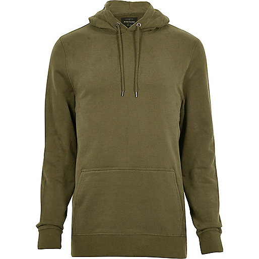 Khaki cotton hoodie