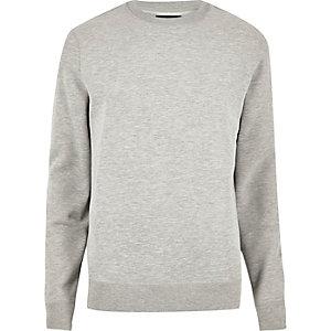 Grey marl crew neck sweatshirt