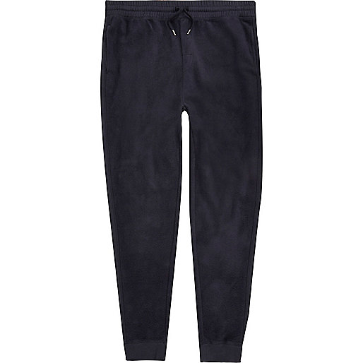 Navy fleece joggers
