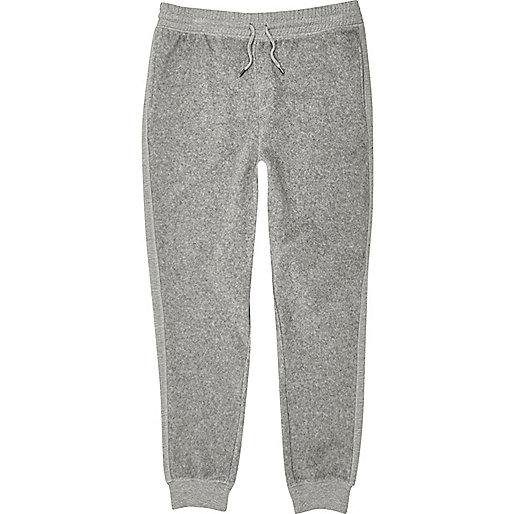 Pantalon de jogging gris en polaire