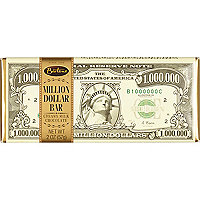 Barre de chocolat blanc $1 millions 57g