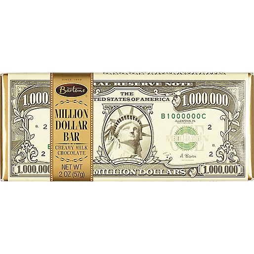 """Weiße """"$ 1 Million"""" Schokoladentafel, 57 g"""