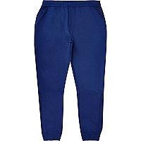 Pantalon de jogging avec empiècements en tulle bleu