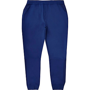 Blue mesh panel joggers