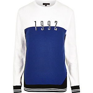 White color block 1992 sweatshirt