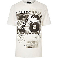 Weißes T-Shirt mit California-Muster