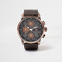 Dark brown aesthetic dial watch