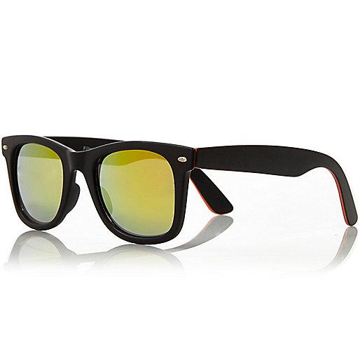 Neon orange retro sunglasses
