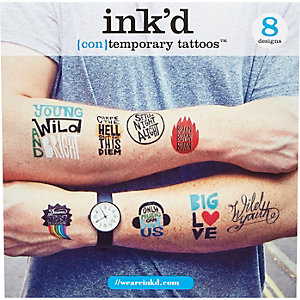 Red Ink'd (con)temporary tattoos pack