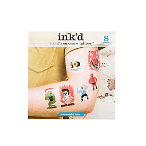 Black Jack Teagle Ink'd temporary tattoos