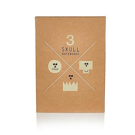 Brown skull notebook set