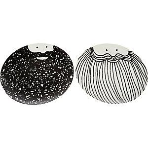 White Bernard & Samuel beard plates set
