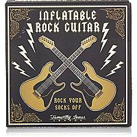 Bouée motif guitare de rock noire