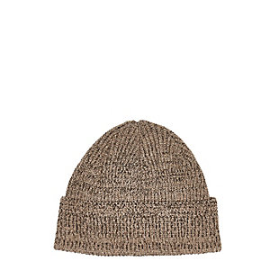 Light brown docker beanie hat