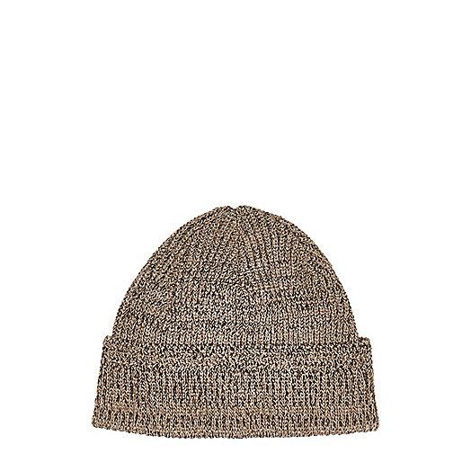 Light brown docker beanie hat