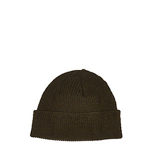 Dark green docker beanie hat