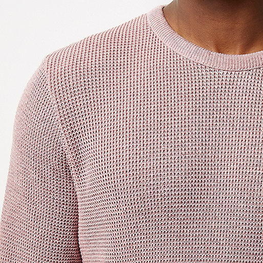 Pink textured jumper