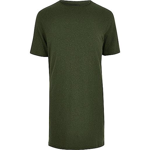 T-shirt kaki très long