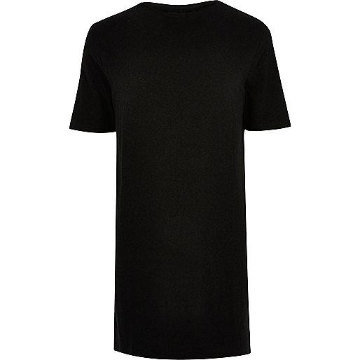 Black extreme longline T-shirt