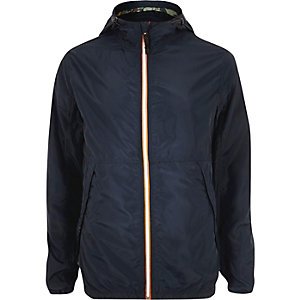 Navy Jack & Jones Vintage nylon jacket