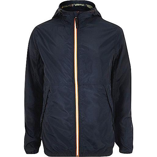 Navy Jack & Jones Vintage nylon jacket