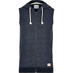 Blue Jack & Jones Vintage sleeveless hoodie