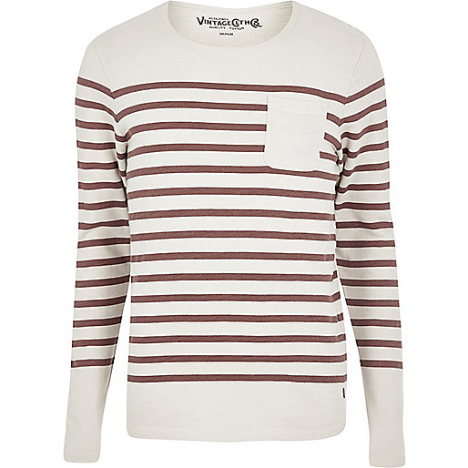 Cream Jack & Jones Vintage stripe jumper