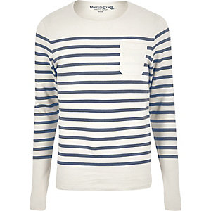 Navy Jack & Jones Vintage stripe jumper