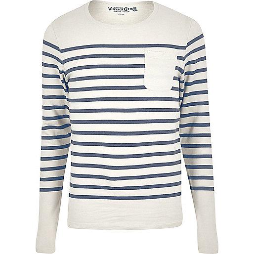 Navy Jack & Jones Vintage stripe sweater