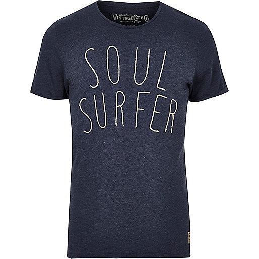 Jack & Jones Vintage – Marineblaues T-Shirt Soul Surfer