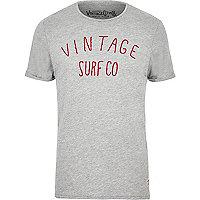 Jack & Jones Vintage – Graues T-Shirt mit Logo