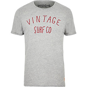 Grey Jack & Jones Vintage logo T-shirt