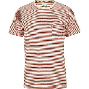 Red stripe Jack & Jones Vintage T-shirt